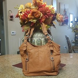Camel colored purse